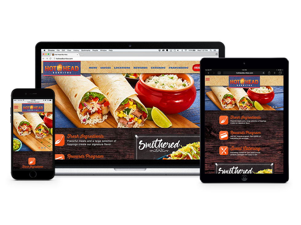 Hot Head Burritos website