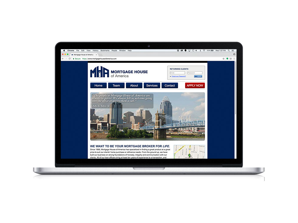 Mortgage House of America Website