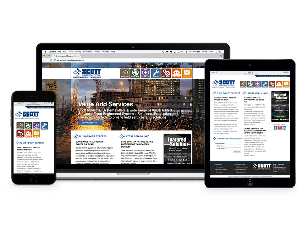 Scott Industrial Systems Website