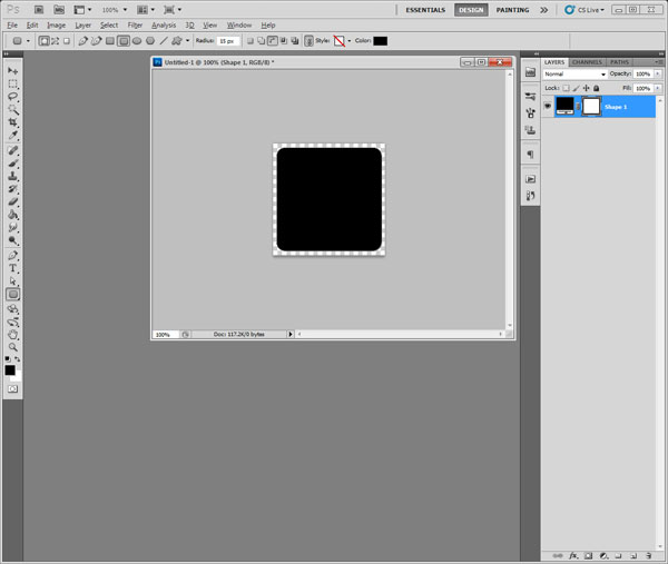 Photoshop shape layer